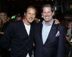 Actor Jason Lewis celebrates the opening of Del Frisco's Grille in Santa Monica with General Manager Jeffrey Harrelson.  (PRNewsFoto/Del Frisco's Restaurant Group)
