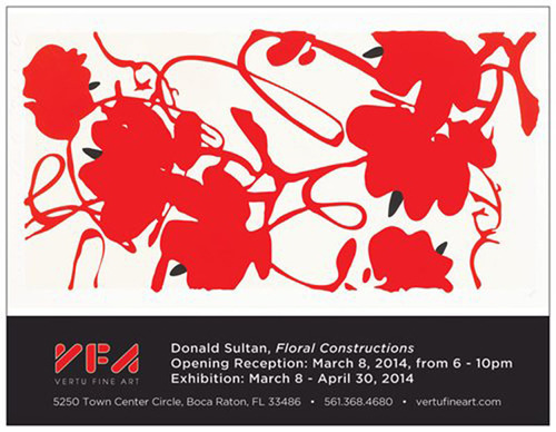 "Donald Sultan ""Floral Constructions"" March 8th 2014 at Vertu Fine Art.  (PRNewsFoto/Vertu Fine Art)"