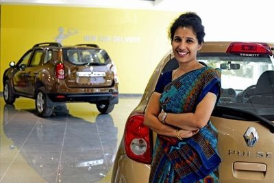 Sales manager at Renault dealership in Bangalore, India. Credit: Atul Loke, Panos - REA