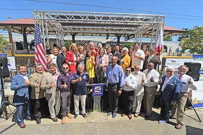 Dozens of elected and local officials came together today to celebrate the Duarte/City of Hope Foothill Gold Line Station Dedication.