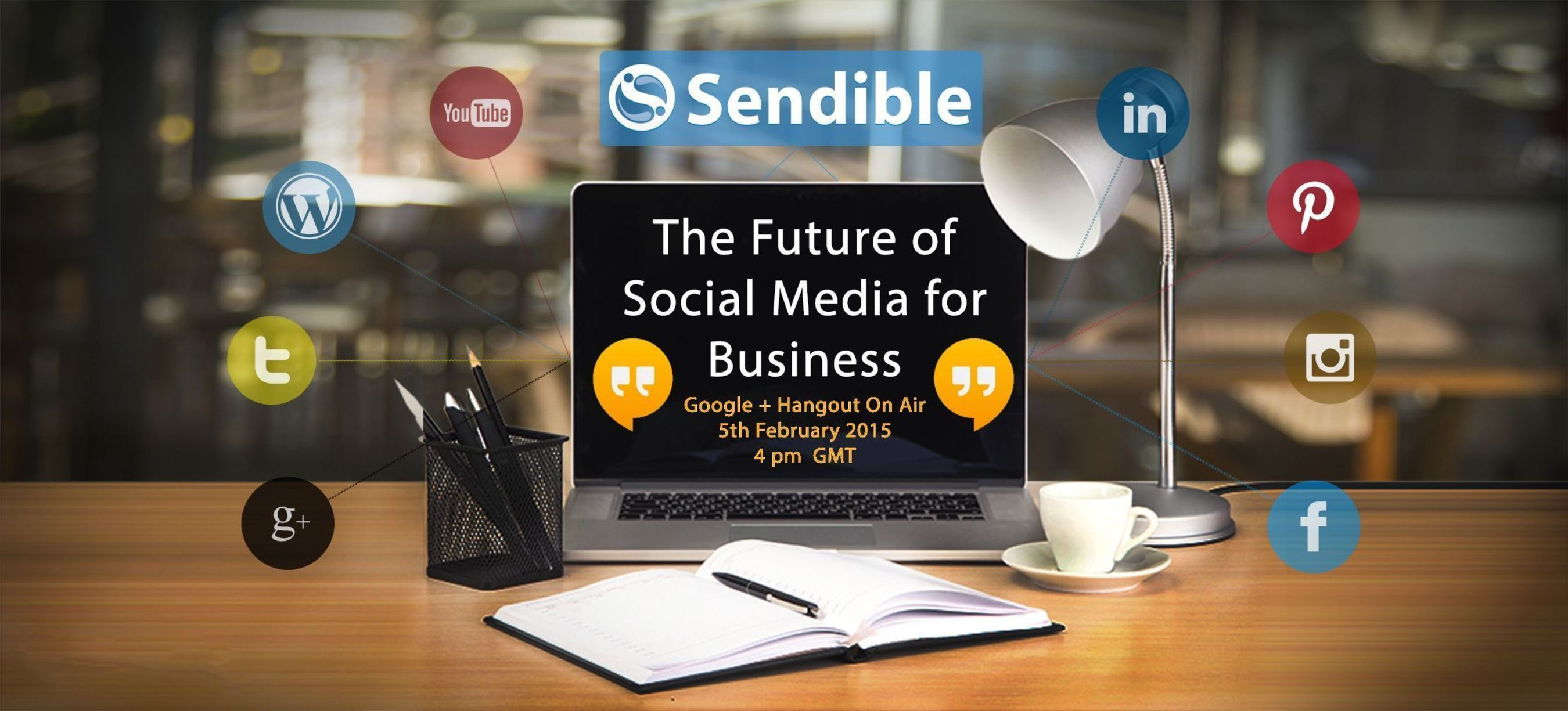 The Future of Social Media for Business is a live online event being hosted by Sendible the leading social media management solution provider. The event will bring together leaders from the world of social media and marketing to discuss what the future holds for social media for business, being held on 5th Feb 2015 at 16:00 GMT. Register at www.sendible.com/FSMB2015 (PRNewsFoto/Sendible Ltd_)