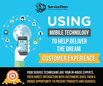 ServiceTitan infographic shows how mobile tech can improve customer satisfaction and boost revenue for home service businesses