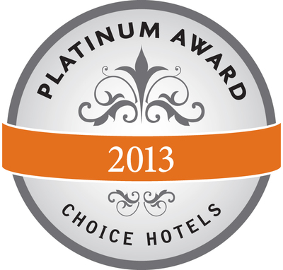 Choice Hotels Platinum Award. (PRNewsFoto/Choice Hotels International, Inc)