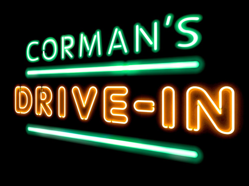 "Logo for Academy Award winning filmmaker Roger Corman's YouTube paid channel, ""Corman's Drive-In,"" launching this summer.  (PRNewsFoto/Corman's Drive-In)"