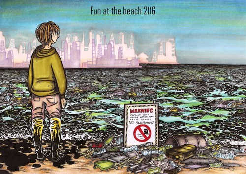 """This is the """"fun"""" people will have on their beaches 100 years from now. In the spirit of the ..."""