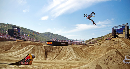 Event winner Todd Potter competes at Red Bull X-Fighters Glen Helen. Credit Chris Tedesco/Red Bull.  ...