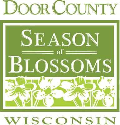 Door County, Wisconsin Season of Blossoms Logo. Image courtesy DoorCounty.com/Door County Visitor Bureau.