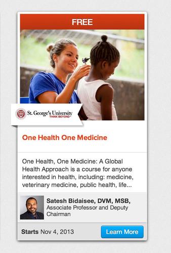 One Health One Medicine. (PRNewsFoto/St. George's University) (PRNewsFoto/ST. GEORGE'S UNIVERSITY)