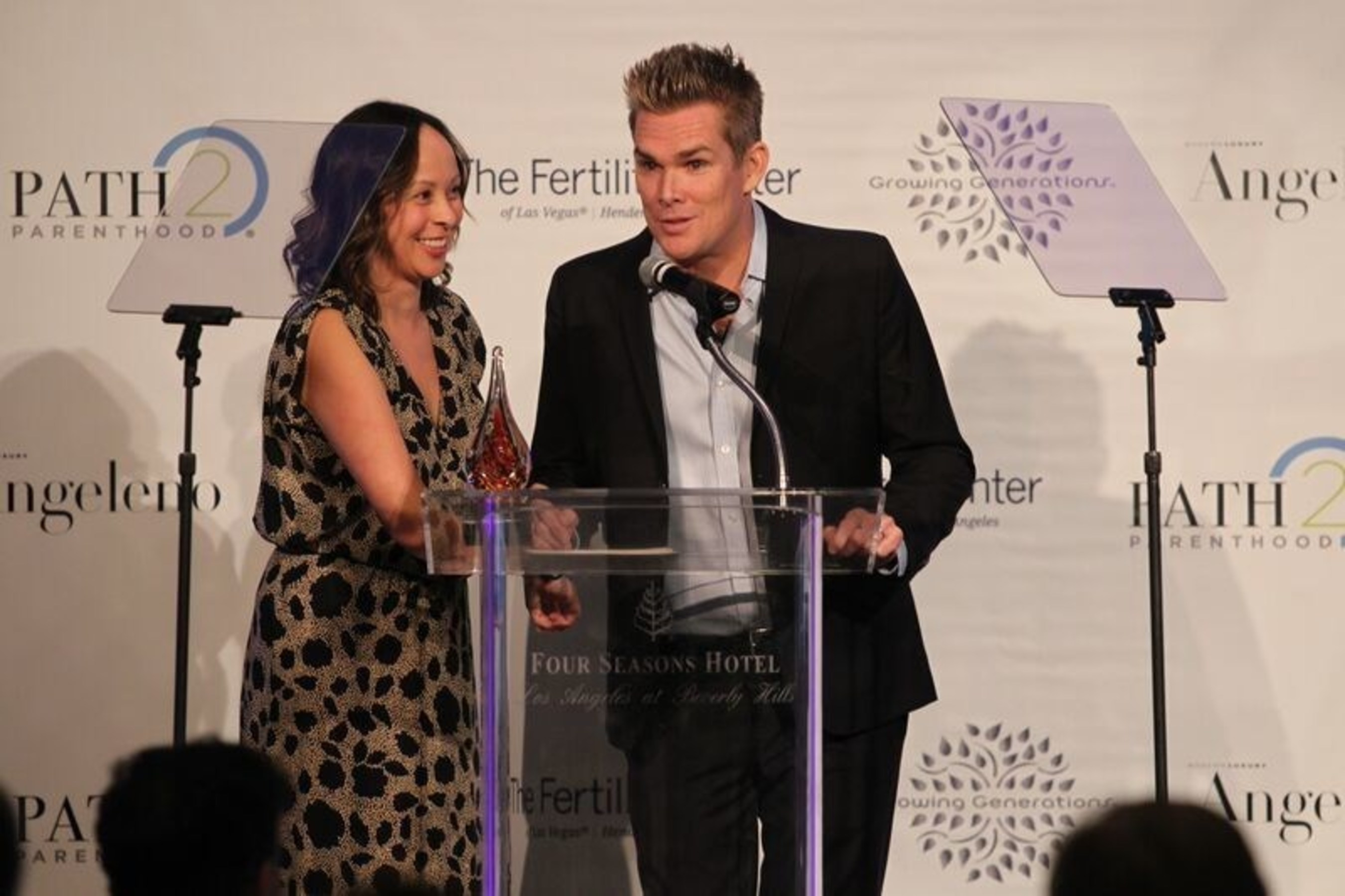 Mark McGrath and Carin Kingsland McGrath at Illuminations LA