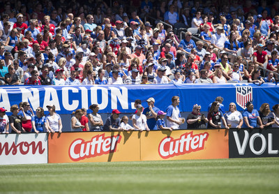 "Fans watch the U.S. Women's National Team match against South Africa in Chicago on July 9. Spectrum Brands, Inc. - Pet, Home & Garden Division (""Spectrum"") is a sponsor of the U.S. Men's and Women's National Soccer Teams."