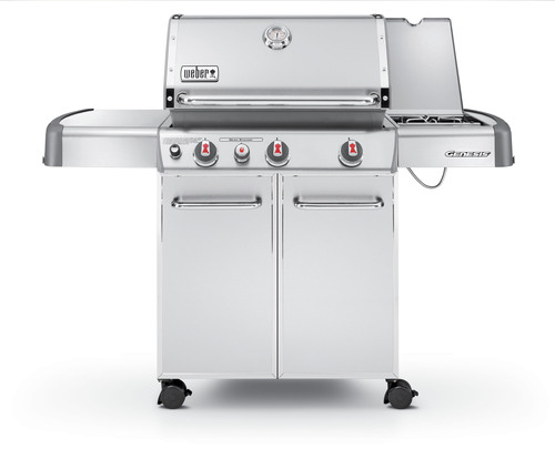 New for 2011, the Weber Genesis S-330 gas grill has Weber's Sear Station burner that creates professional sear marks on food by reaching temps up to 800 degrees.     (PRNewsFoto/Weber-Stephen Products LLC, Jim York)