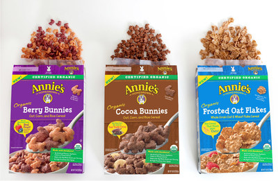 Meet Annie's Organic Cereals, available in Berry Bunnies, Frosted Oat Flakes & Cocoa Bunnies!