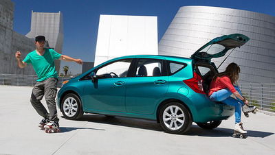 The 2014 Nissan Versa Note was voted as the Best Back to School Car by Kelley Blue Book. (PRNewsFoto/Briggs Auto Group)