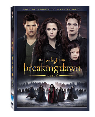 THE TWILIGHT SAGA: BREAKING DAWN PART 2 - THE EPIC FINALE IN THE MULTI-BILLION DOLLAR WORLDWIDE FRANCHISE CELEBRATES ITS ARRIVAL FOR HOME ENTERTAINMENT RELEASE. (PRNewsFoto/Summit Entertainment, a LIONSGATE(R) company) (PRNewsFoto/SUMMIT ENTERTAINMENT, LIONSGATE)