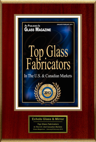 Echols Glass & Mirror Selected For 'Top Glass Fabricators'