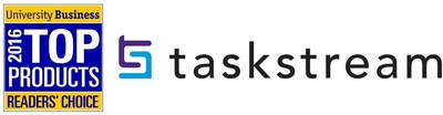 Taskstream was selected, for the second straight year, as a 2016 University Business Readers' Choice Top Product