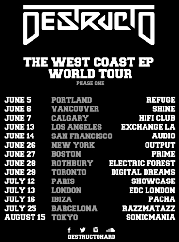 Destructo Inks Deal With Insomniac Records/Interscope Records First Leg Of 'West Coast World Tour' Announced. (PRNewsFoto/Interscope Records)