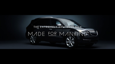"The new Acura ""Made for Mankind"" ad campaign.  (PRNewsFoto/Acura)"