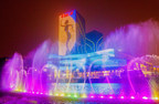 The fountain show in front of the Kunming Xishan Wanda Plaza, the 100th Wanda Plaza