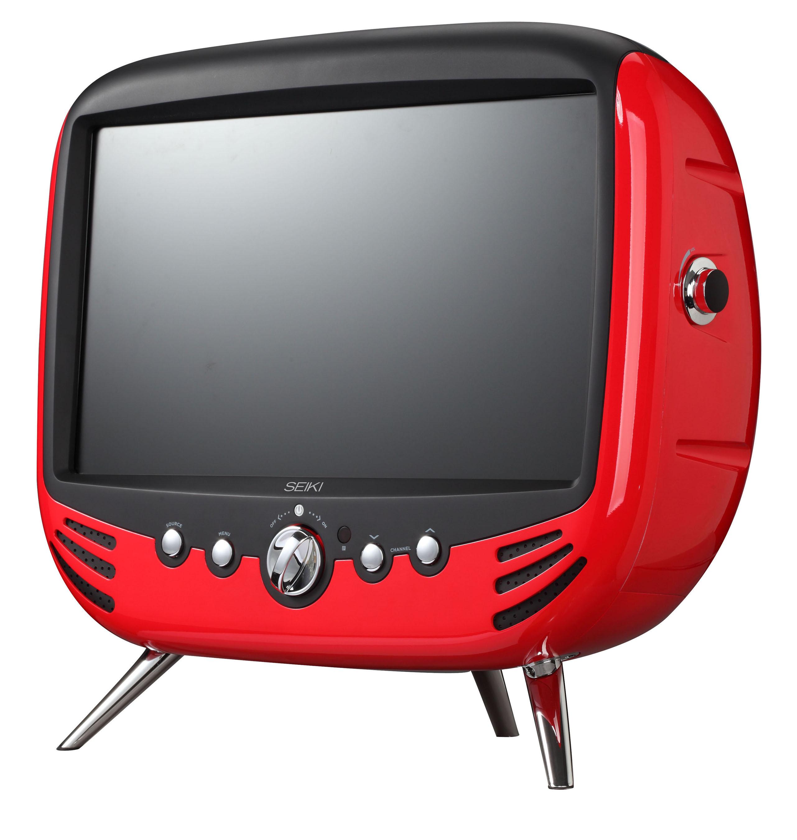SEIKI Retro Design HDTV in Retro Red. New colorful TV concept offers unique combination of retro looks and Full HD experience. (PRNewsFoto/SEIKI Digital, Inc.) (PRNewsFoto/SEIKI DIGITAL, INC.)