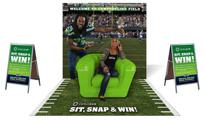 CenturyLink, the Seahawks' official high-speed Internet provider, partners with cornerback Richard Sherman to kick off a social media contest for Seahawks fans beginning Sept. 13. (PRNewsFoto/CenturyLink, Inc.) (PRNewsFoto/CENTURYLINK, INC.)