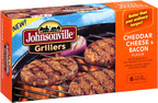 Johnsonville introduces two new gourmet frozen burgers with its Cheddar Cheese and Bacon, and Swiss Cheese and Mushroom Grillers. The one-third pound Grillers made with premium cuts of pork are available in grocers nationwide, providing consumers an alternative to traditional beef burgers.  (PRNewsFoto/Johnsonville Sausage, LLC)