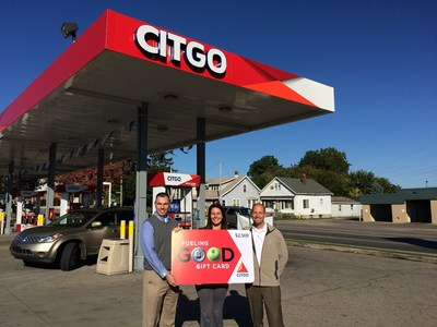 Local CITGO Marketer American Gas and Oil and CITGO Petroleum Corporation recently awarded the grand prize winner of the Good Stuff Giveaway. Michelle Wolf of Cedar Springs, Mich., received a year's supply of fuel in the form of $2,500 in CITGO Gift Cards at the Burton CITGO station in Wyoming, Mich. on Oct. 8.