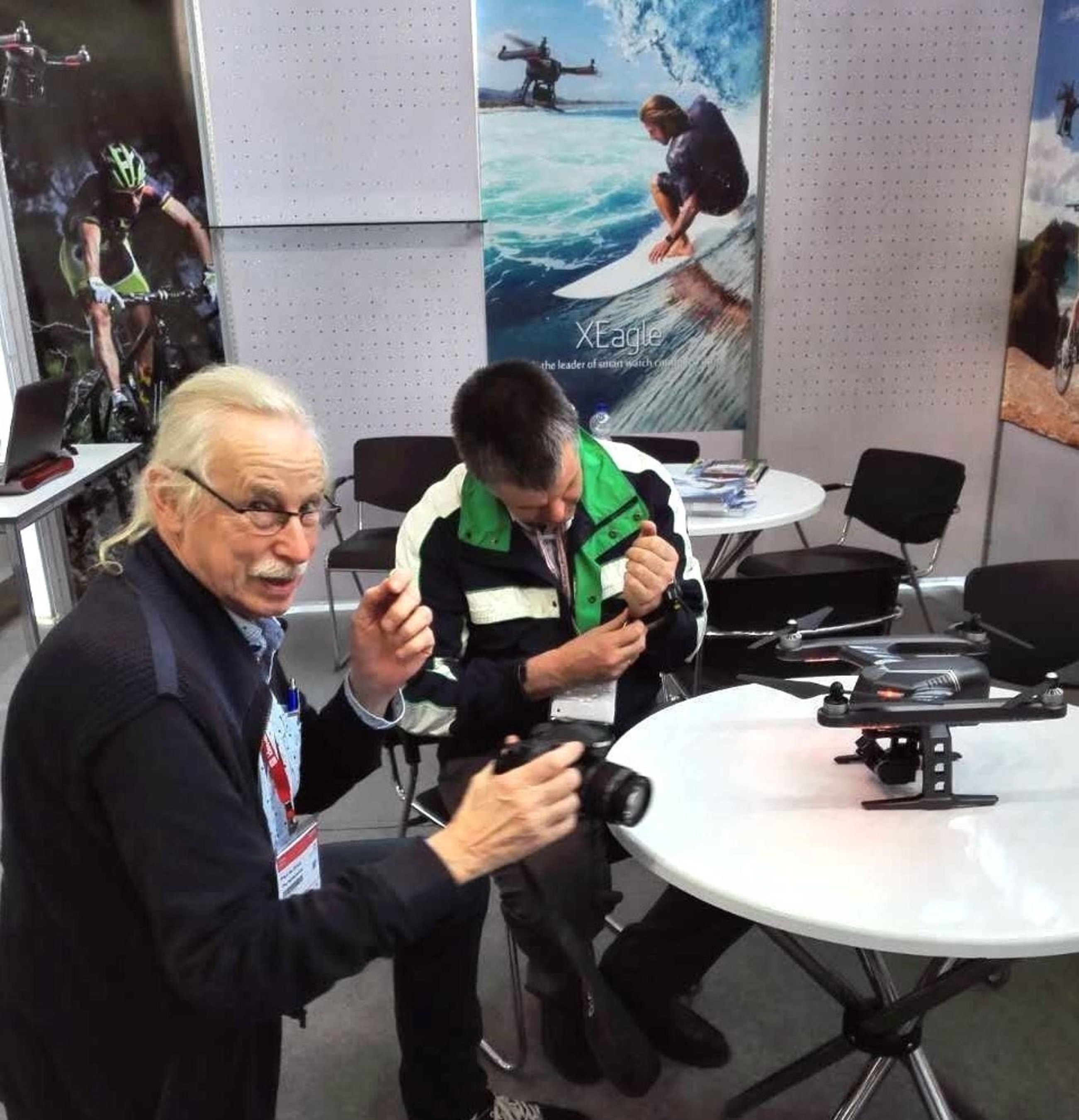 FLYPRO XEagle UAV controlled by mouth Delights Crowds at the Nuremberg Toy Fair