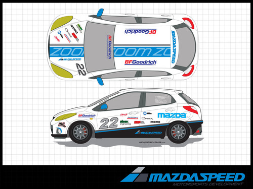 Mazda2 B-Spec for PRI.  (PRNewsFoto/MAZDASPEED Motorsports Development)