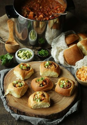 Sweet Potato and Lentil Chili in Bread Bowls, a creation by Chef Billy Parisi for ConAgra Foods' Ultimate Winter Menu