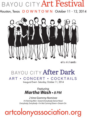 "Houston's Top Ranked Art Festival Debuts ""Bayou City After Dark"" Concert Featuring Martha Wash"
