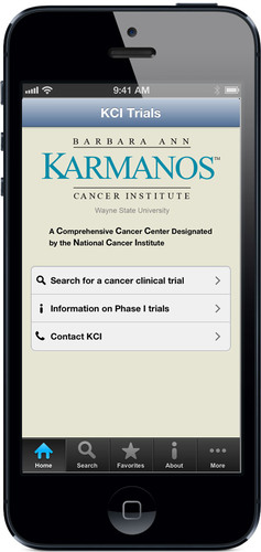The Barbara Ann Karmanos Cancer Institute (KCI) in Detroit launched its new app to help physicians and ...
