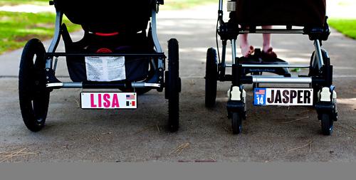 lille rabbagast baby stroller plates (PRNewsFoto/lille rabbagast)