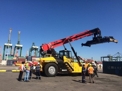 Sany SRSC4535C1 reach stacker (King Abdul Aziz Port, Dammam, Saudi Arabia)