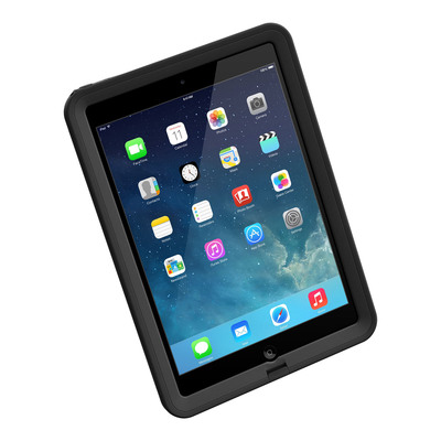 The LifeProof fre for iPad Air is available now in black and white. The waterproof iPad Air case includes a tethered headphone jack cover and is compatible with a variety of LifeProof accessories, including a folio screen cover that doubles as a stand, a floating LifeJacket and a mounting cradle.  (PRNewsFoto/LifeProof)