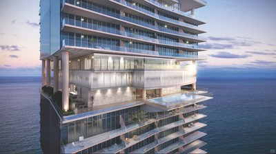 Turnberry Ocean Club Reveals Three-Level Private Club. In a one-of-a-kind collaboration designed by architects Carlos Zapata and Robert Swedroe, Turnberry Ocean Club introduces its private club soaring 333 feet above sea level. (PRNewsFoto/Turnberry Ocean Club)