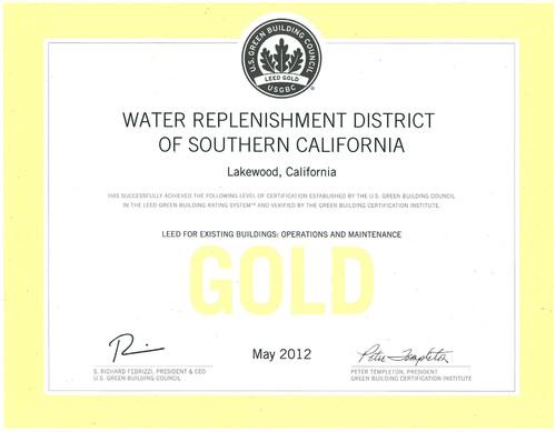WRD Awarded Prestigious LEED® Green Building GOLD Certification