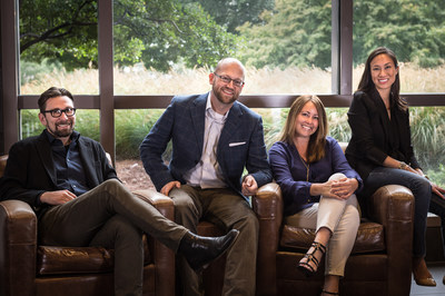 The Hospitality studio at Atlanta-based architecture and design firm tvsdesign includes (left to right): Aaron Gentry, principal; Ron Crawford, principal; Patricia Richey, principal; Renee Chiarelli, senior associate. (PRNewsFoto/tvsdesign)