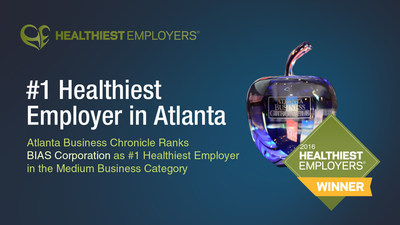 BIAS Corporation Named as #1 Healthiest Employer in Atlanta in the Medium Business Category