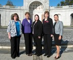 Deputy National Legislative Director Joy Ilem (center) and National 3rd Junior Vice Commander (center right) Brigitte Marker along with members of DAV's Women Veterans Interim Committee (from left) Kathleen Shultze, Kimberly Tatham and Idalis Marquez meet at the Women In Military Service for America Memorial at Arlington National Cemetery. Marker and the committee members were on Capitol Hill today to support DAV's women veterans initiatives.