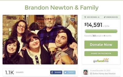 Brandon Newton & Family, https://www.gofundme.com/brandonnewton