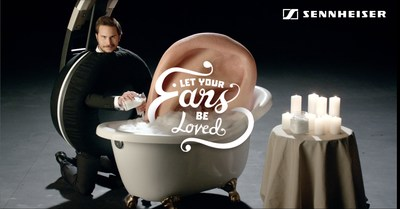 "Driven by the theme ""Let Your Ears Be Loved"", the campaign will engage the target group by online videos and online and offline activation that focus on their high demands and passion for sound in a humorous way. (PRNewsFoto/Sennheiser)"