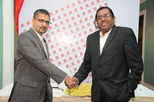 Mr. Sarang Panchal, Managing Director and Mr. Raj Sharma, Chairman, MRSS INDIA (PRNewsFoto/MRSS India)