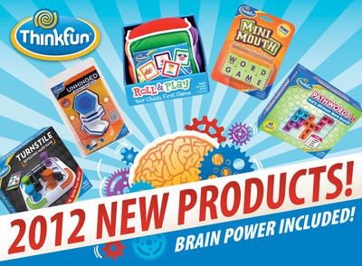 Build Brain Power at Any Age with ThinkFun's 2012 Line Up.  (PRNewsFoto/ThinkFun)