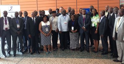 Participants at the GVG-SGS West African Workshop (PRNewsFoto/Global Voice Group)
