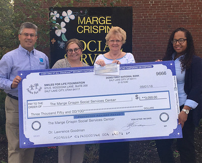 Check presentation from Great Hill Dental, Braintree to Margin Crispin Charitable Organization - $3050.00