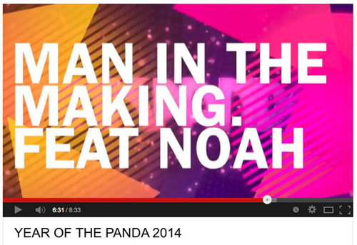 Man in the Making: Pink Panda ft. NOAH. (PRNewsFoto/NOAH) (PRNewsFoto/NOAH)