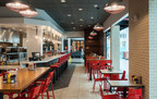 No sign of a 50s diner at the new Johnny Rockets. The brand refresh includes new restaurant design, logo and a whole new experience.