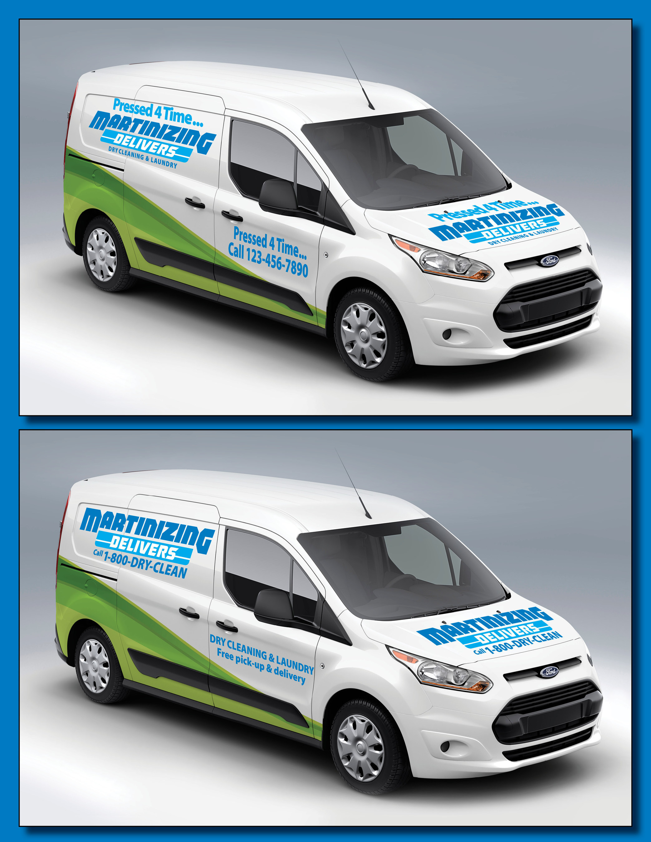 New van graphics for Martinizing Delivers