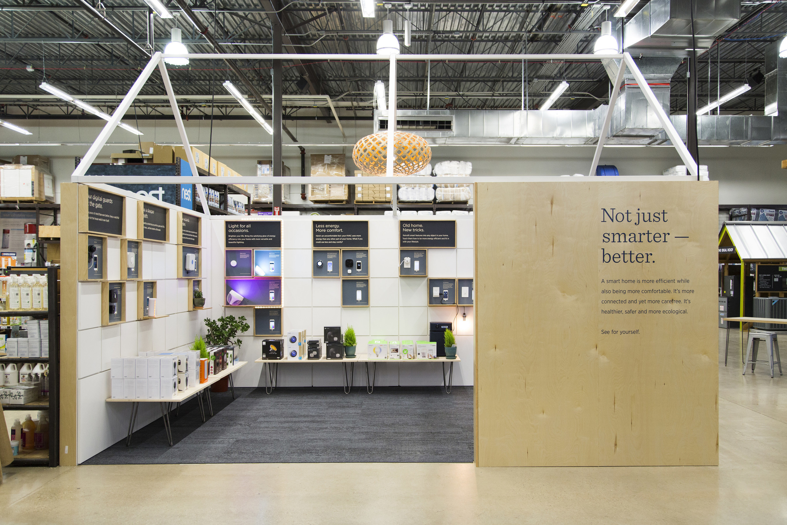 TreeHouse's 2015 top smart-home products are featured inside TreeHouse's flagship Austin store. The list includes thermostats that know when you're sleeping, door locks and lighting you control from your phone, and ceiling fans that sense when you're in the room.